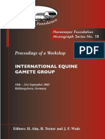 Monograph Series No. 18 - Internation Equine Gamete Group