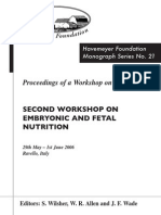 Monograph Series No. 21 - 2nd Workshop on Embryonic and Fetal Nutrition