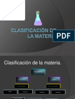 Clasificacion de LA MATERIA Soluciones Coloides Mezclas JULIO2014