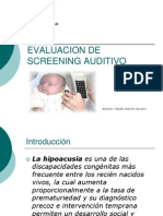 Dicertacion Audio Evaluacion de Screening Auditivo