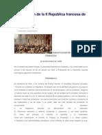 Constitucion Francesa de 1848