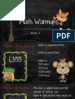 math warmups