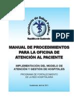 Manual de Proced Para La Oficina de Atención Al Paciente
