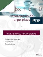 1. Inversiones de Largo Plazo y Activos Productivos