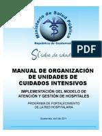 Manual de Organizacion de Unidades de Cuidados Intensivos
