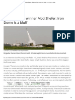 Iron Dome is a bluff (according to Defense Prize winner Moti Shefer)