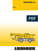 Liebherr mobile crane (1030-2.1) technical specifications