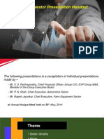 Investor Presentation Handout Post Q4 FY14 Results