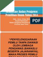 Mekanisme Badan Pengawasan Pemilu