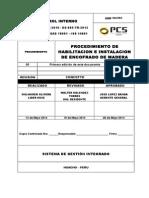 Procedimiento de Habilitacion e Instalacion de Encofrado de Madera Pcs