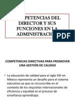 Competencias Del Director y Sus Funciones en La Administracion