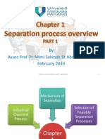 Chapter 1-Separation Process Overview