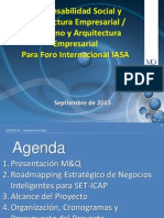 Foro Internacional IASA - M&Q - Responsabilidad Social y Arquitectura Empresarial - Gobierno y Arquitectura Empresarial