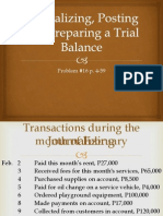 Journalizing, Posting and Preparing a Trial Balance