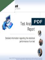 Test Analysis Report Slides