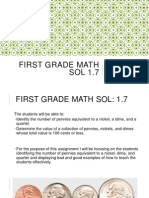 first grade math sol 1 good and bad examples