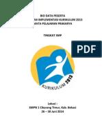 Bio Data Kelas Prakarya Cikarang Timur 2014