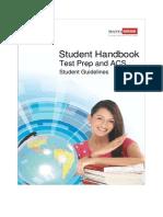 Student Handbook Test Prep and ACS 081111