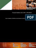 VPN-How to Establish a VPN IPSec Tunnel Between an LB-2 VPN and a VPN 800