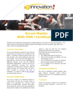 flyer scrum master with psm 1 certification v1