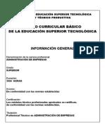 Diseño Curricular Administración de Empresas