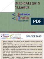 MU OET Medical by Entranceindia