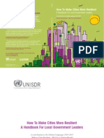 Hand Book on Resilience City by UNISDR