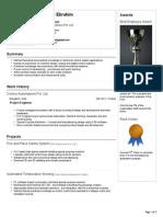 Project Engineer Visual CV