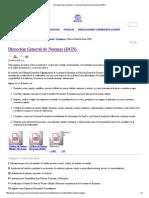 Secretaría de Economía - Dirección General de Normas (DGN)