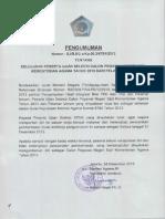 Pengumuman Kelulusan CPNS Kemenag 2013 Jalur Umum