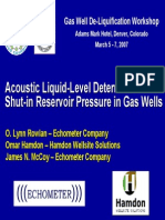 Echometer Shut in Reservoir Pressure