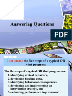 answering question five steps of a typical OB