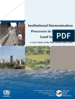 Institutional Harmonisation Processes in the Kenyan Land Sector-A Case Study of the Time Period 2003–2007