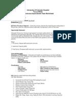 focus pdca worksheet