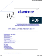 Chemtutor Numbers