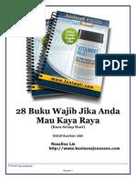 28 Buku Wajib Untuk Kaya Raya