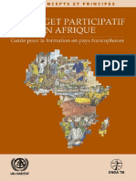 Le Budget Participatif en Afrique – Manuel de Formation Pour Les Pays Francophone