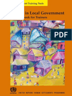 Gender in Local Government – a Sourcebook for Trainers