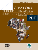 Participatory Budgeting in Africa - A Training Companion for Anglophone Countries - Part I Concepts and Principles