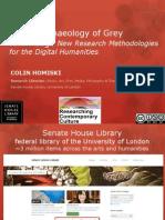 Digital Archaeology of Grey Knowledge