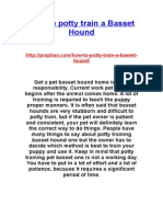 How to Potty Train a Basset Hound - http://praphan.com/how-to-potty-train-a-basset-hound/