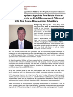 Heng Fai Enterprises Appoints Real Estate Veteran Charles MacKenzie as Chief Development Officer of U.S. Real Estate Development Subsidiary