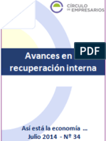 Avances en La Recuperación Interna (Así Está La Economía... julio 2014) Círculo de Empresarios