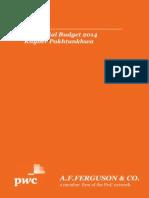 Provincial Budget 2014 KPK
