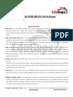 Gk Capsule for Sbi Po 2014 Exam