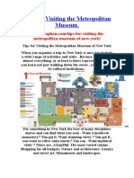 Tips for Visiting the Metropolitan Museum.  source