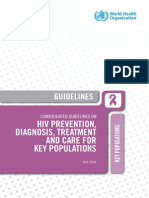 CONSOLIDATED GUIDELINES ON  HIV PREVENTION,  DIAGNOSIS, TREATMENT  AND CARE FOR KEY POPULATIONS
