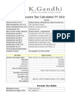 Download Income Tax Calculator FY 2014/15 in Excel