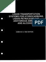 ASME B31.4  LIQUID TRANSMISSION PIPING SYSTEMS