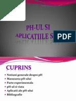 Ph-ul Si Aplicatii